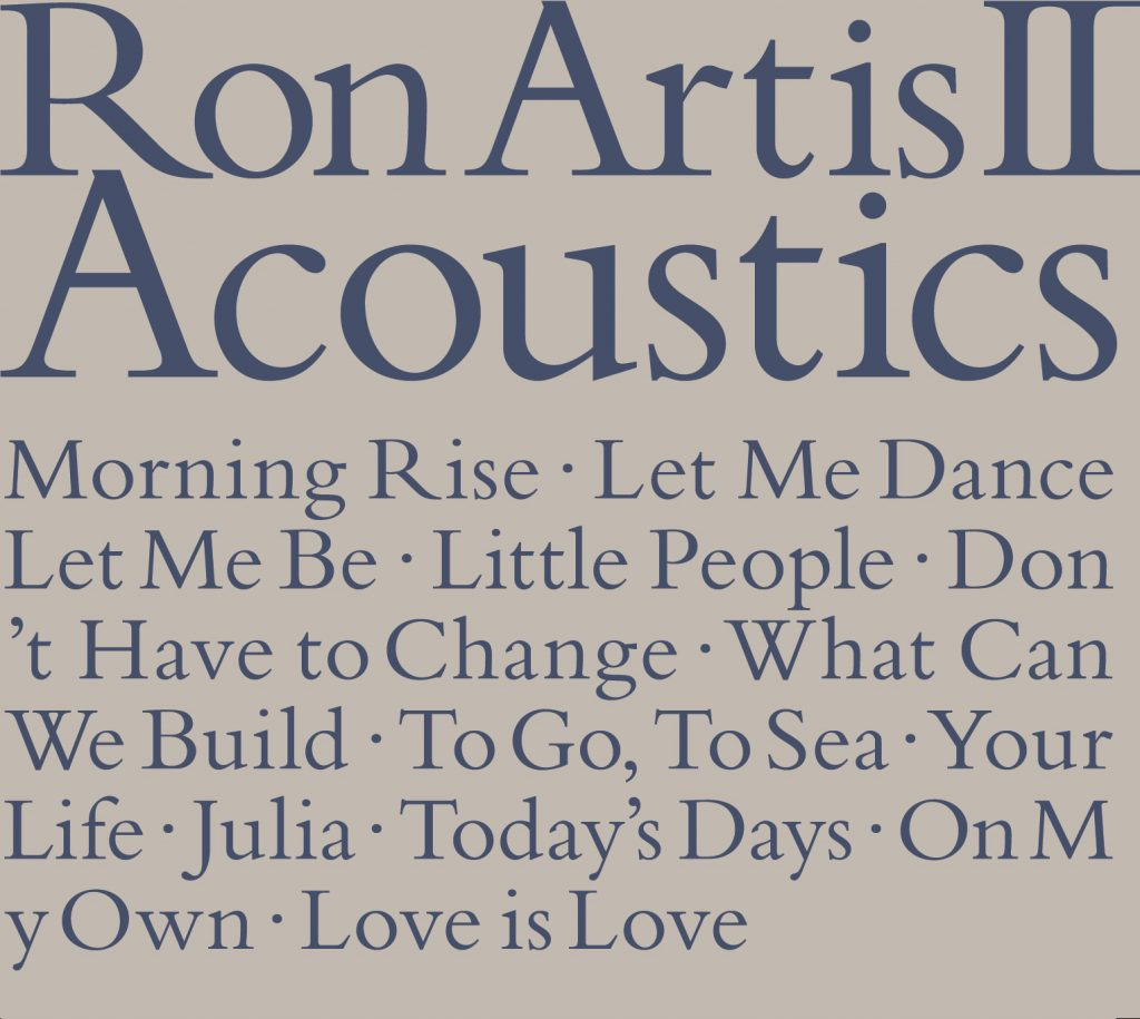 """Ron Artis Ⅱ """"Acoustics"""" release!!!"""