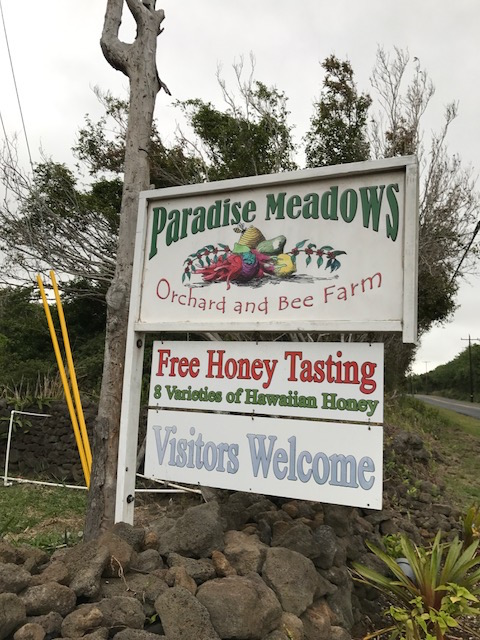 Paradise Meadows sign