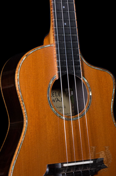 Pu'uwai Tenor Custom African - Blackwood/Redwood -