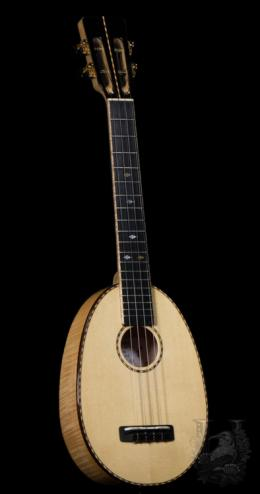 F's Uke  Concert Pineapple LN Custom - Curly Maple - (USED)