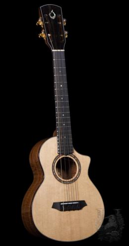 "G String Tenor Custom Cutaway ""Premium Curly Koa"""