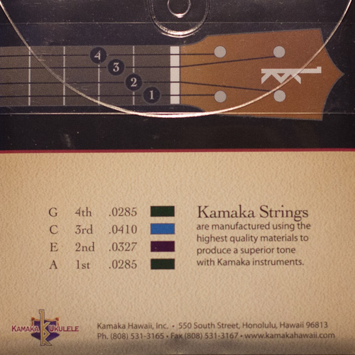 Kamaka Ukulele Strings -Tenor 4 String