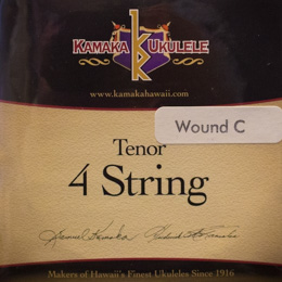 Kamaka Ukulele Strings - Tenor 4 String Wound C