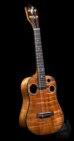 "I'iwi Tenor Custom ""Premium - One Piece Curly KOA"""