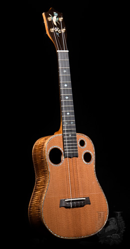 "I'iwi Tenor Custom ""Premium - Redwood & Curly KOA"""