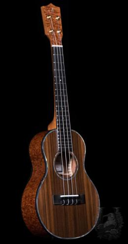 Ana'ole Concert Custom - Sinker Redwood / Quilted Spele -