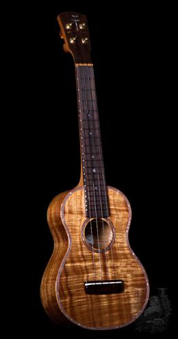 Chihale Works Concert Custom -One Piece Curly Koa -