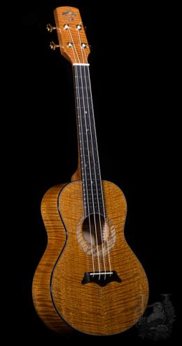 Koa Works  Tenor Custom - Curly Honduran Mahogany-