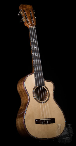 David Gomes Tenor Spruce Cutaway / Slotted