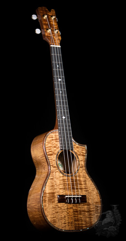 David Gomes Tenor Custom Premium KOA (Cutaway) OUTLET!!!
