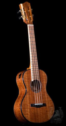 Lotus Acoustics Tenor Custom - Micro Curl Hawaiian Koa -