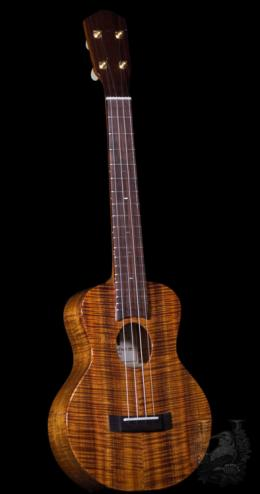 "Matsui Ukulele  Super Concert(Mini Tenor) ""Laughing"" Premium Curly Koa"