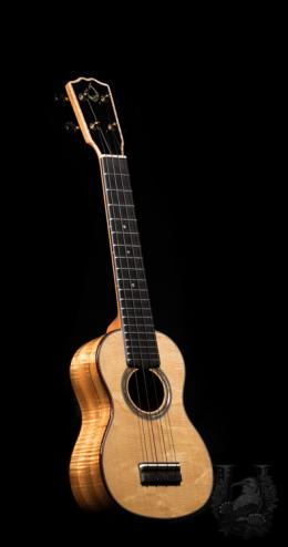 "G String Soprano LN Semi Custom ""Bear Claw Spruce & Premium Curly Koa"""